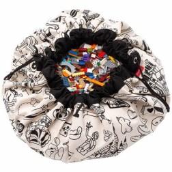 Sac à jouets 2 en 1 réversible Color your bag Omy Paris Play & Go