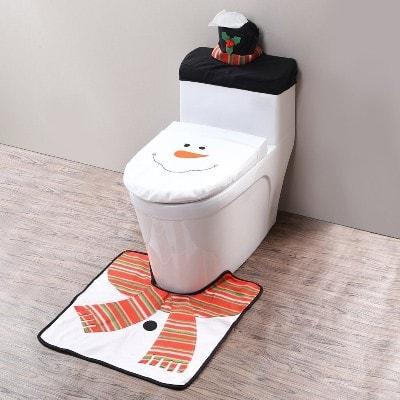 decoracion navideña WC