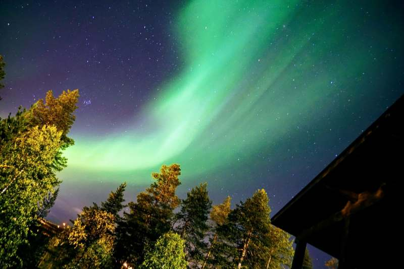 Auroras Boreales en Arctic TreeHouse Hotel