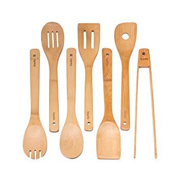 utensilios de cocina de bambu