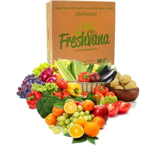 caja de fruta y verdura ecologica
