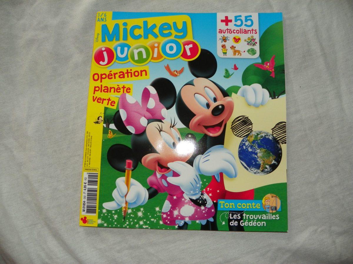 Notre avis sur le magazine Mickey Junior du mois de Mai