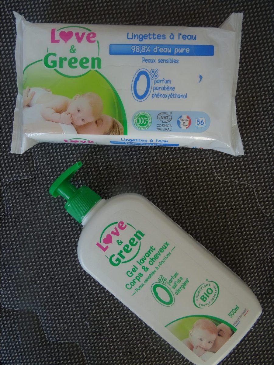 Mon coup de cœur beauté bébé avec Love & Green