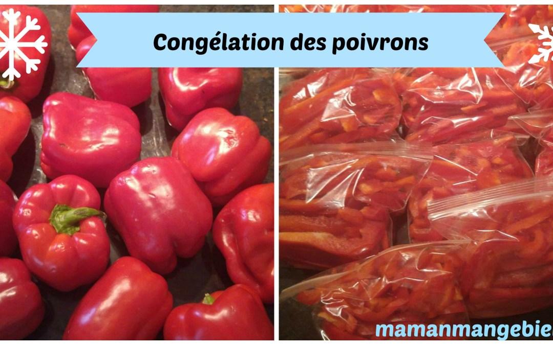 La congélation des poivrons