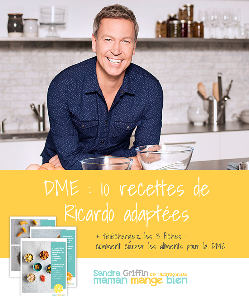 Serie Dme 10 Recettes De Ricardo Adaptees A La Dme Maman Mange Bien