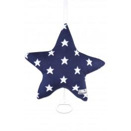 coussin-musical-star-bleu-marine-blanc