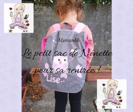 Le petit sac de Nénettepour sa rentrée !