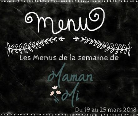 Les Menus de la semaine de MamanMi 11