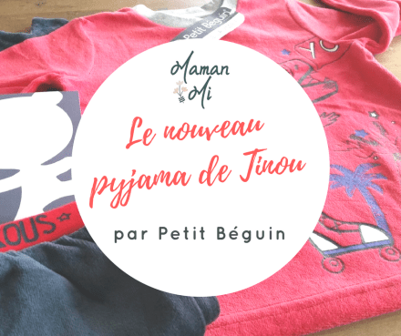 Le nouveau pyjama de Tinou par Petit Béguin