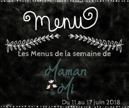 Les Menus de la semaine de MamanMi 23