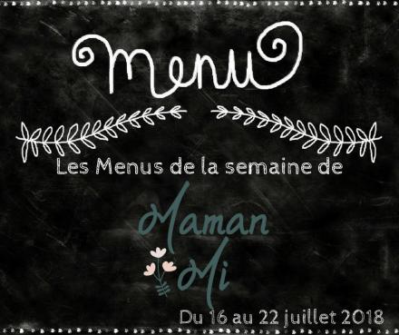 Les Menus de la semaine de MamanMi 27
