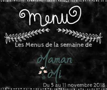 Les Menus de la semaine de MamanMi 42
