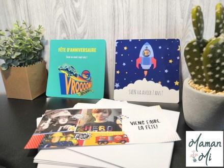 carte invitation anniversaire sam le pompier fusée enfant