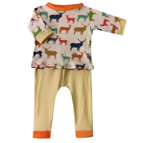 pyjama-2-pieces-yellow-deer-fille-ou-garcon-6-mois