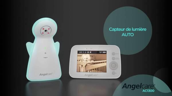 Test et avis de l'écoute bébé angelcare avec caméra et plaque de mouvements respiratoires