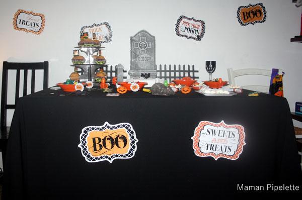 Avant on avait un salon, voici notre décoration d'Halloween