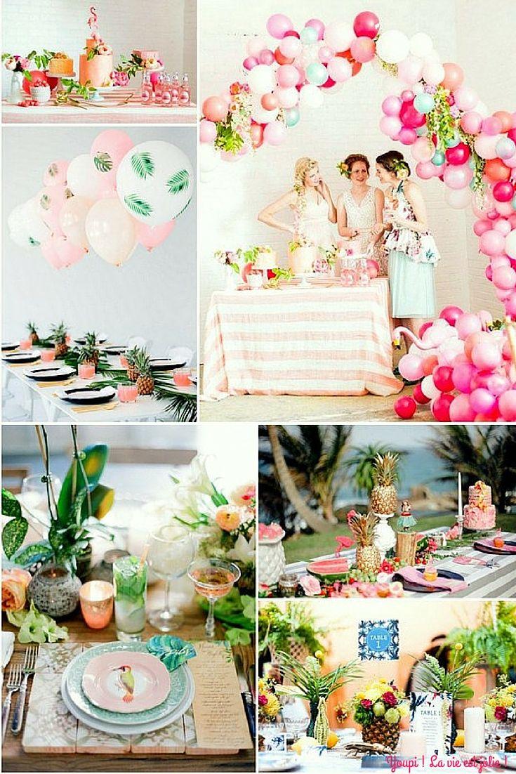 Mes 31 ans version tropical alohhaa id es d corations - Idees deco ete pour un decor frais et joyeux ...
