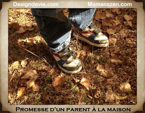 maman à la maison Promesse d'un parent à la maison à son enfant - mamans zen design de vie zen