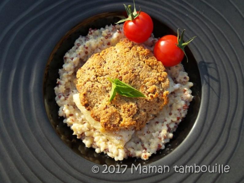cabillaud croute de moutarde risotto quinoa12