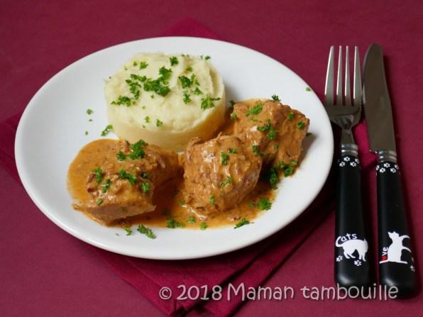 saute de porc sauce cremée au cognac11