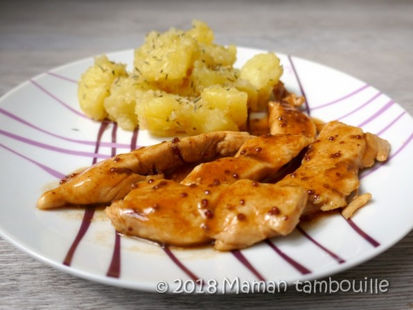 aiguellettes de poulet miel moutarde10