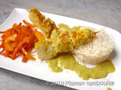 brochettes de poisson curry coco10
