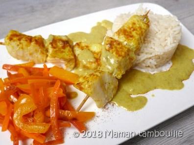 brochettes de poisson curry coco16