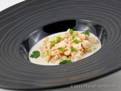 ajo blanco crevettes13