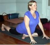 proud pigeon pose prenatal yoga
