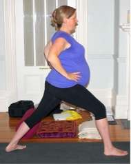 warrior I prenatal yoga