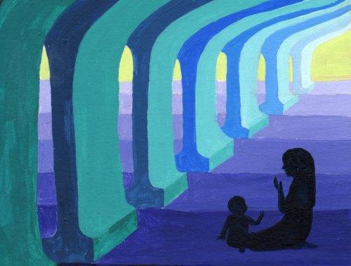GuardianOfMyPrayer_painting_ZarinaTeli :: mamanushka.com