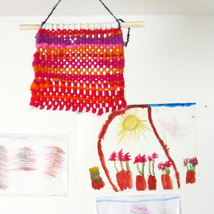Waldorf Steiner Kindergarten Sunbeam Weaving|| Mamanushka.com