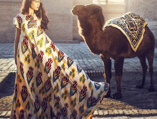 MAMANUSHKA.com    Design Inspiration    Uzbekistan    Dildora Kasimova    Ikat    Fashion    Modest Style