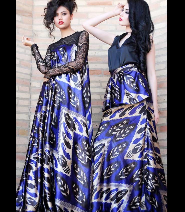 MAMANUSHKA.com || Design Inspiration || Uzbekistan || Dildora Kasimova || Ikat || Fashion || Modest Style