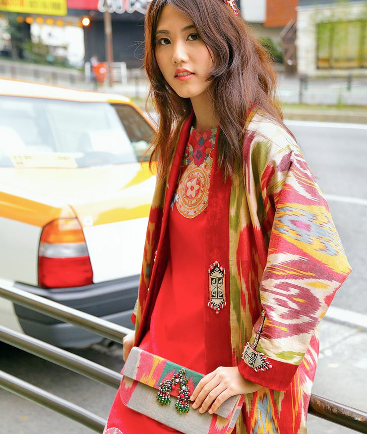 MAMANUSHKA.com || Design Inspiration || Uzbekistan || LALI Fashion House || Ikat || Fashion || Modest Style