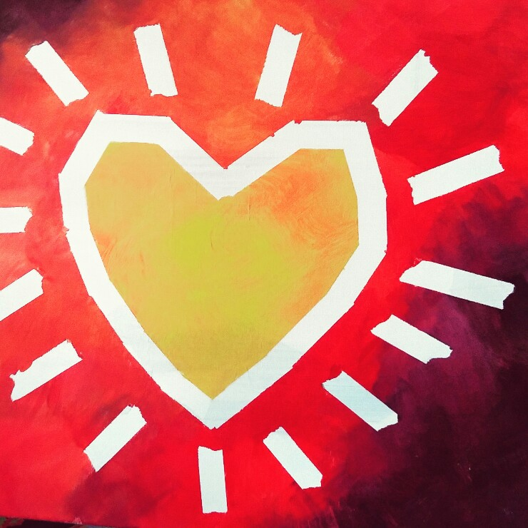 MAMANUSHKA.com || Your Heart Is Shining || Original Painting by Ausma Malik