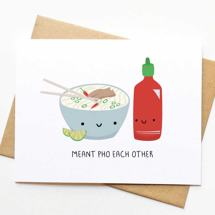 MAMANUSHKA.com || Funny Punny Valentine's Cards || Roundup || Foodie Card || Designed by Pinwheel Printshop