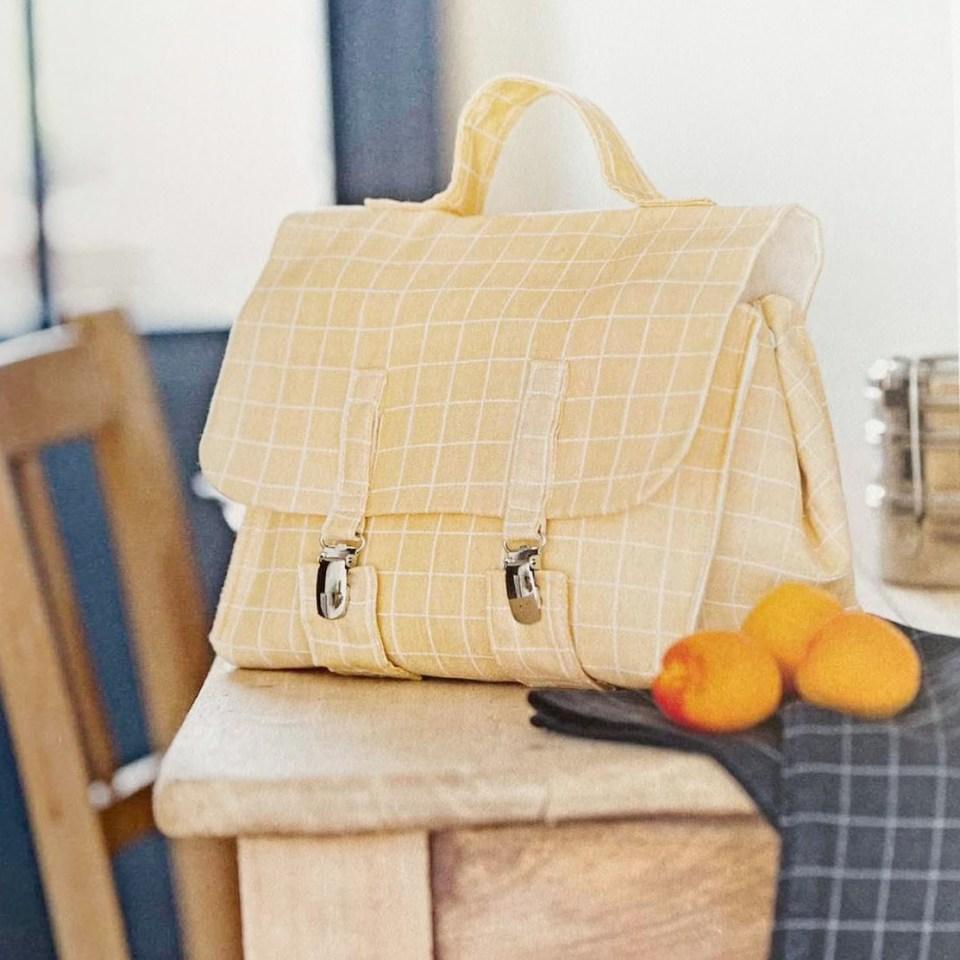 livre créations zéro déchet couture, lunch bag cartable