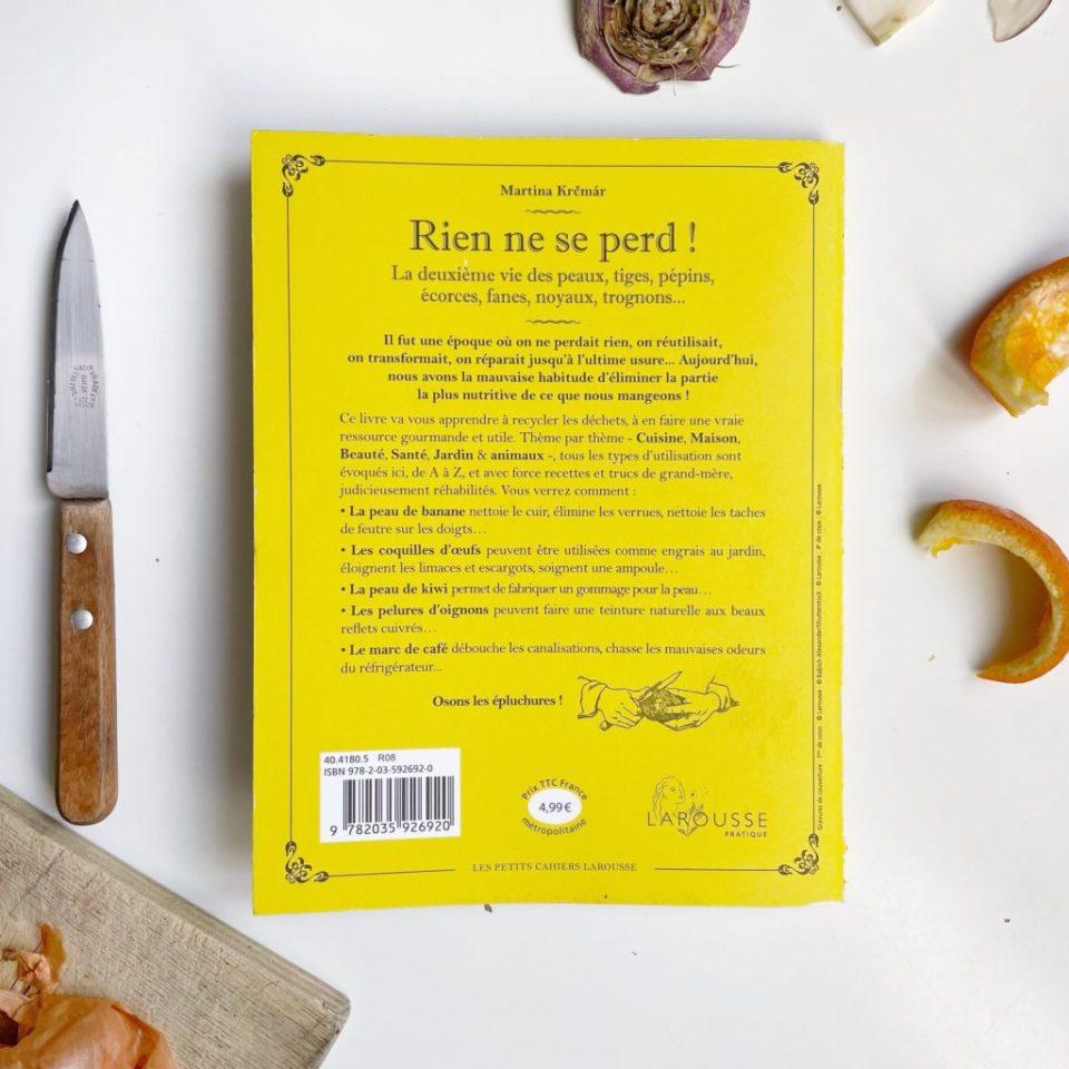 livre anti-gaspillage épluchures en cuisine, beauté bien-être, jardinage, santé, remèdes naturels, maison