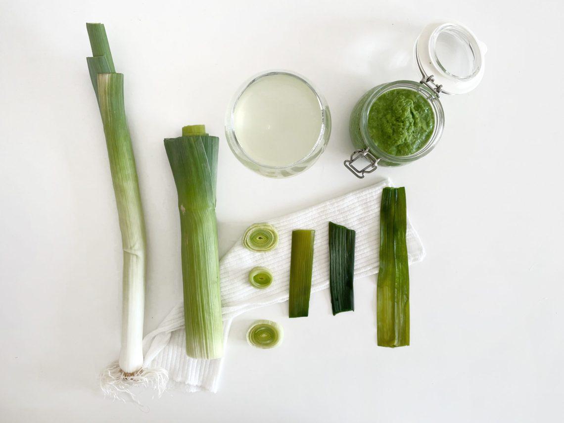 remèdes naturel au vert de poireau