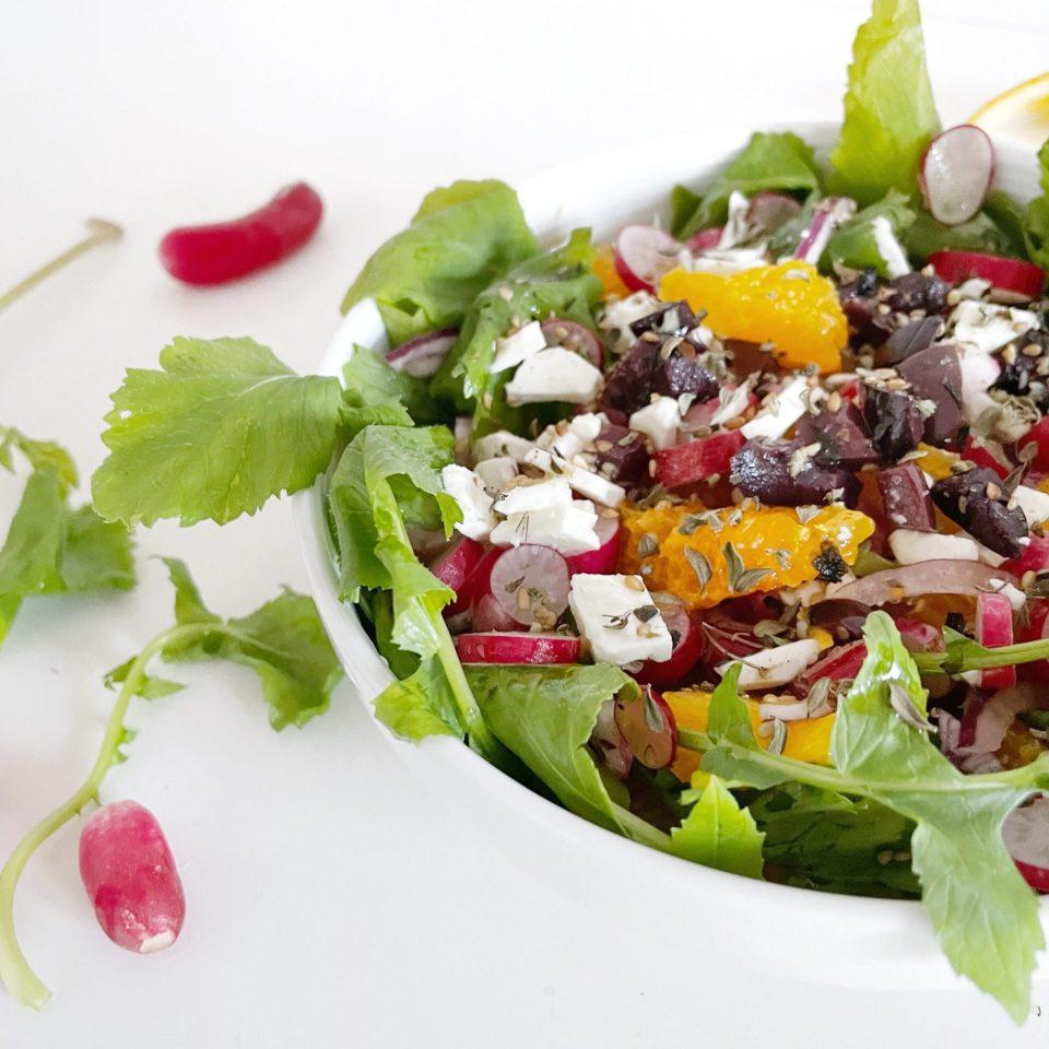 recette anti-gaspi, l'agneau pascal salade composée de Printemps