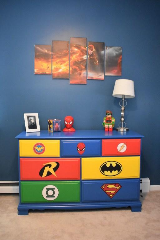 Mama of Both Worlds - DIY Superhero Room Upcycled Dresser