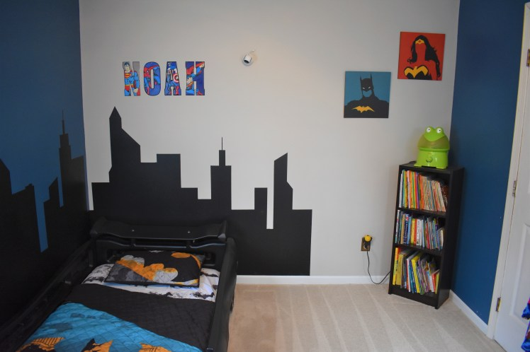 Mama of Both Worlds - DIY Superhero Room Redux on a Budget
