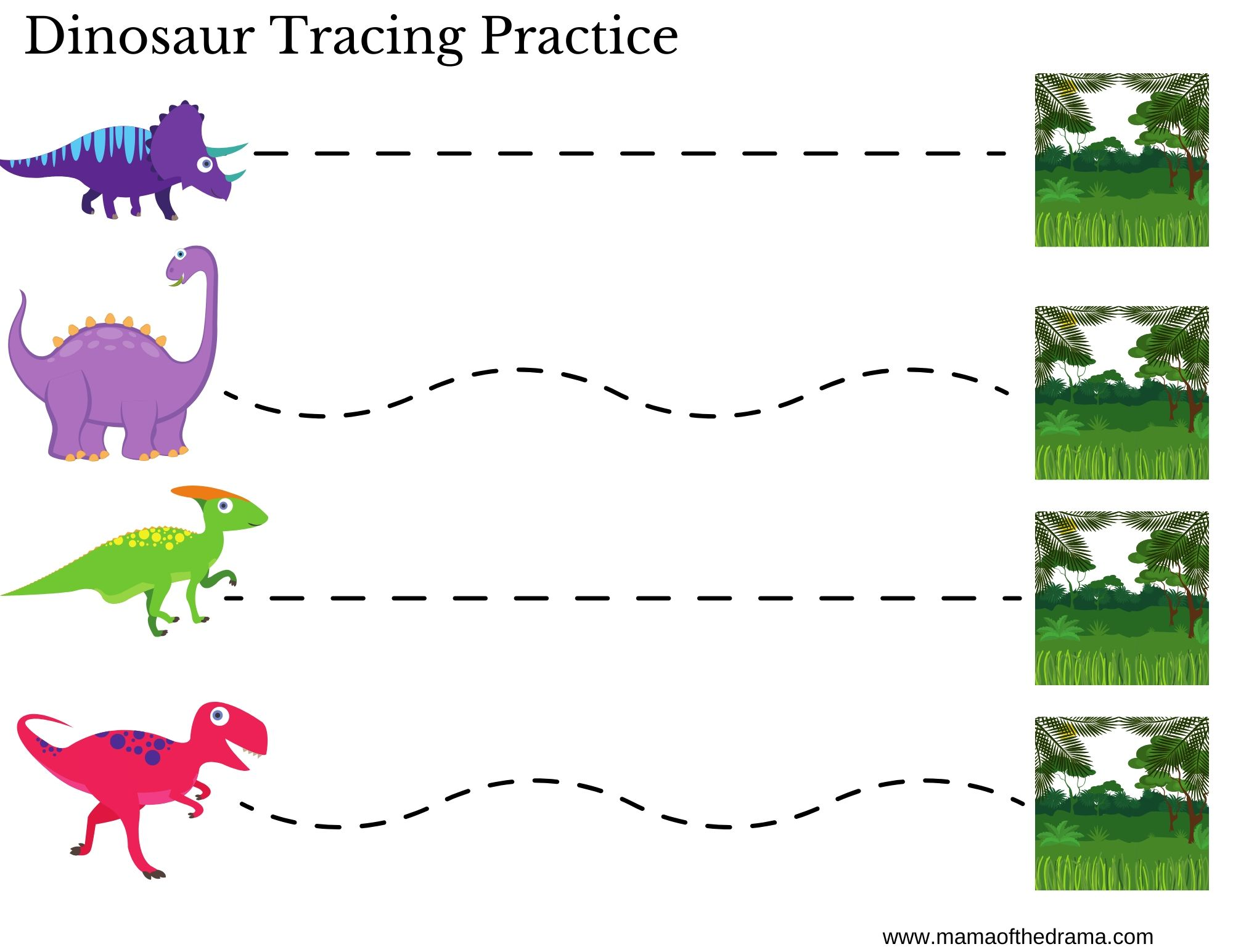 Preschool Dinosaur Theme Printables Mama Of The Drama