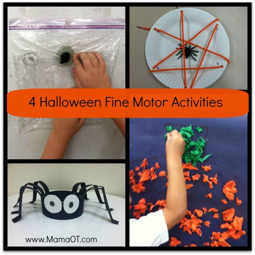 4 Halloween Fine Motor Activities