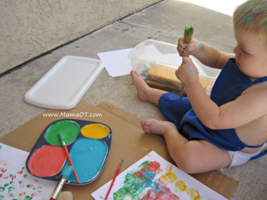 Homemade Edible Finger Paint Using Only Water Flour And Food Coloring Perfect For