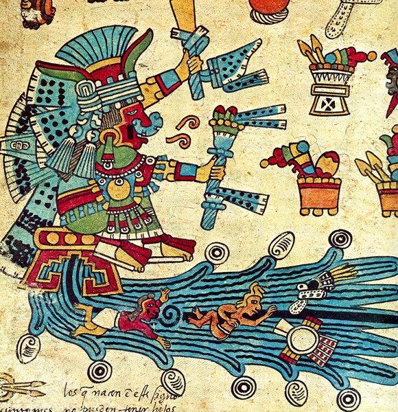 Diosa de las aguas Chalchiuhtlicue, purificadora de los bebés
