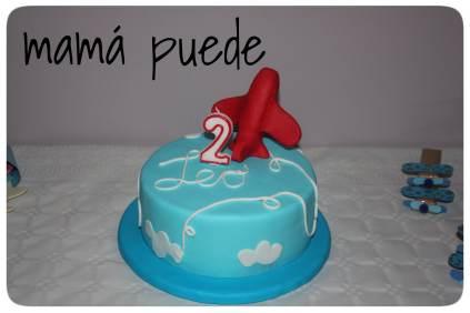 tarta cumpleaños de aviones