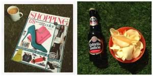 Revista + café, patatas + cerveza