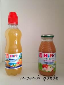 Multifruta con agua mineral sin gas y Zumo de plátano y manzana